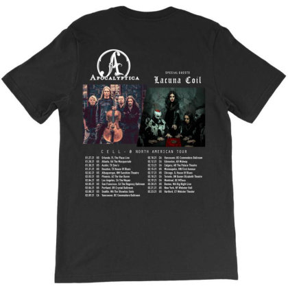 Apocalyptica Lacuna Coil Cell-0 Hoodie Custom Dates 2021 T-shirt Designed By Cuser1898