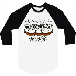pepe the frogs 3/4 Sleeve Shirt   Artistshot