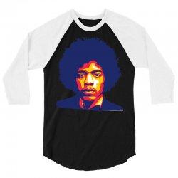 jimi hendrix fire 3/4 Sleeve Shirt   Artistshot