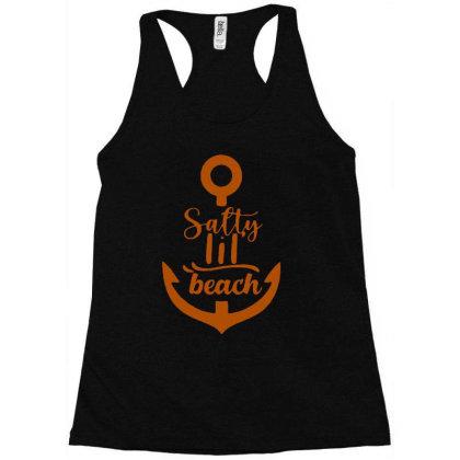 Anchor Salty Little Beach Racerback Tank Designed By Hot Maker
