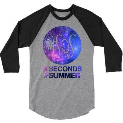5sos Five Seconds Of Summer Logo Circle Galaxy White 3/4 Sleeve Shirt Designed By Permatasarisekar