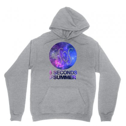 5sos Five Seconds Of Summer Logo Circle Galaxy White Unisex Hoodie Designed By Permatasarisekar