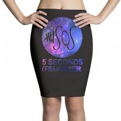 5sos five seconds of summer logo circle galaxy white Pencil Skirts | Artistshot
