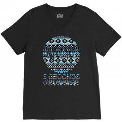 5sos five seconds of summer logo circle aztec tribal adult V-Neck Tee   Artistshot
