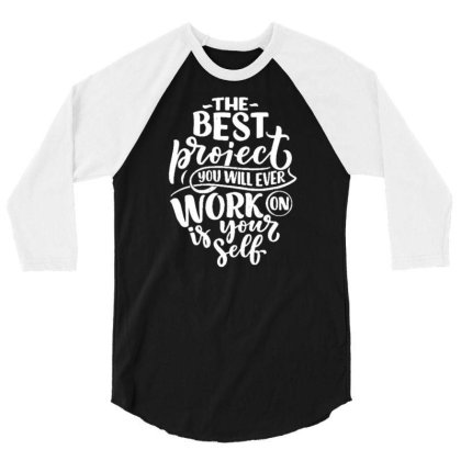 Be Yourself  1 3/4 Sleeve Shirt Designed By Traart