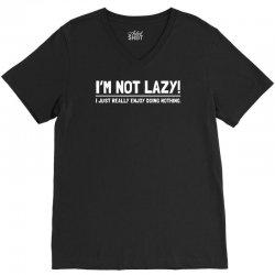 lazy funny V-Neck Tee | Artistshot