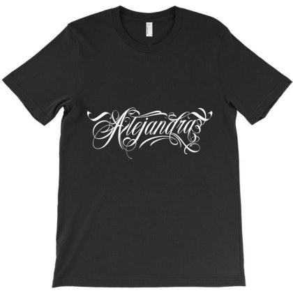Alejandra License Plate T-shirt Designed By Tiococacola