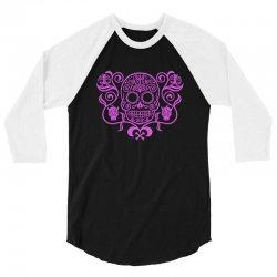 day of the dead sugar skull 3/4 Sleeve Shirt | Artistshot