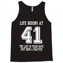 41st birthday life begins at 41 white Tank Top | Artistshot