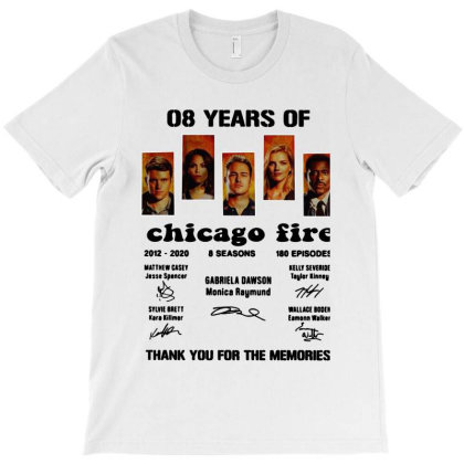 08 Years 2012 2020  Thank You For The Memories Signatures T-shirt Designed By Hot Maker