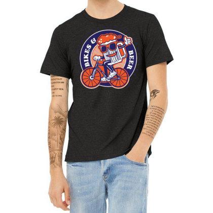Bikes & Beer Heather T-shirt Designed By Traart