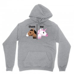 them & me unicorn style Unisex Hoodie | Artistshot
