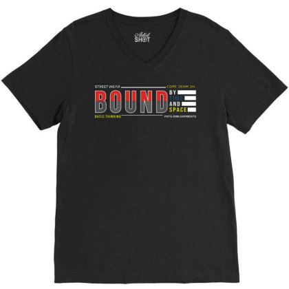 Bound By Time And Space V-neck Tee Designed By Traart