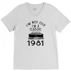 i'm not old i'm a classic 1981 V-Neck Tee | Artistshot