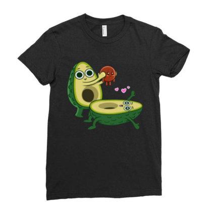 Avocado Childbirth Ladies Fitted T-shirt Designed By Kateskentus