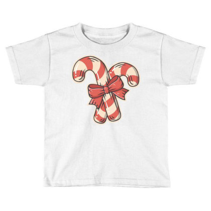 Candy Cane Toddler T-shirt Designed By Traart