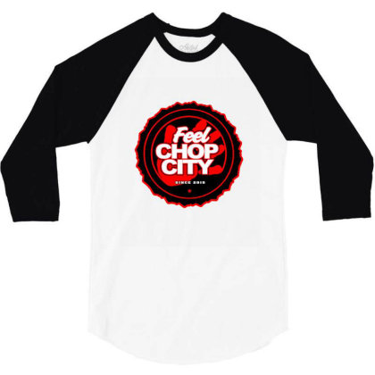 Chop City Hand 3/4 Sleeve Shirt Designed By Blackstone