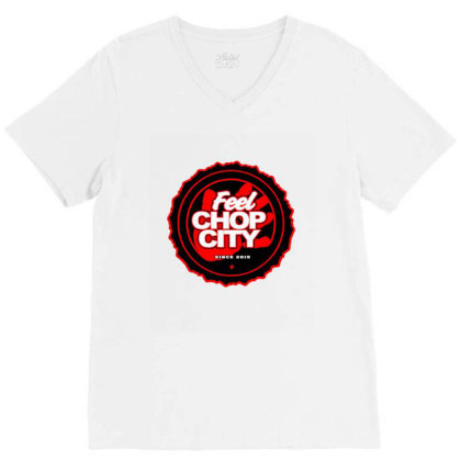 Chop City Hand V-neck Tee Designed By Blackstone
