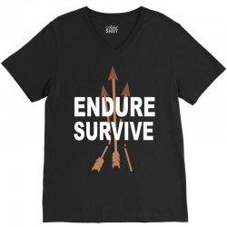endure and survive (the last of us) V-Neck Tee   Artistshot