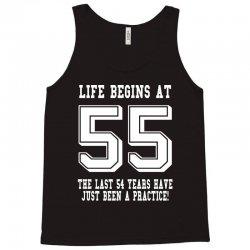 55th birthday life begins at 55 white Tank Top | Artistshot