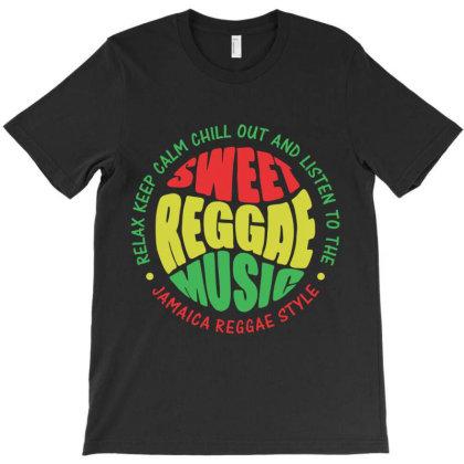 Relax Chill Reggae Music Jamaica T-shirt Designed By Designisfun