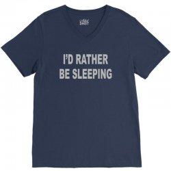 i'd rather be sleeping V-Neck Tee | Artistshot