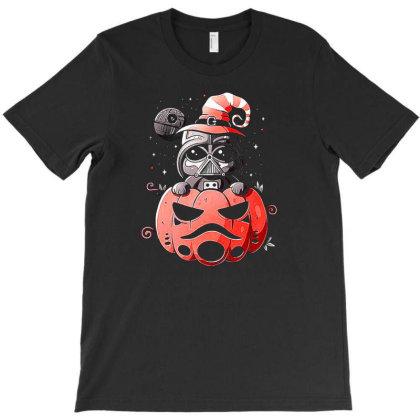 Baby Darth Vader Pumpkin T-shirt Designed By Ifa Uyainah