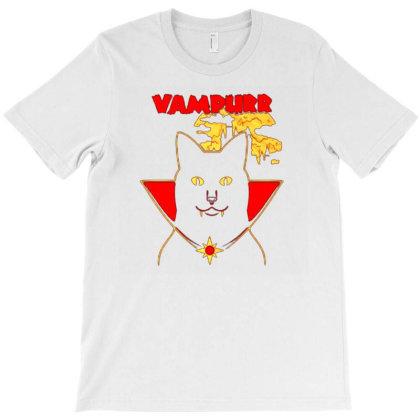 Vampurr Vampir Cat T-shirt Designed By Ami Januar
