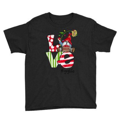 Love Gg Life Christmas Youth Tee Designed By Koopshawneen