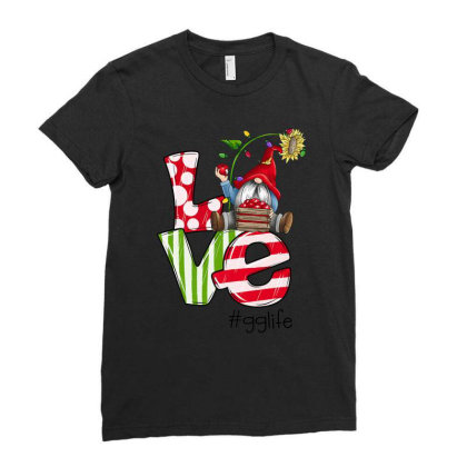 Love Gg Life Christmas Ladies Fitted T-shirt Designed By Koopshawneen