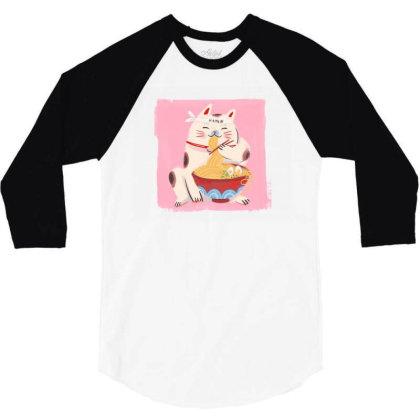 Ramen 3/4 Sleeve Shirt Designed By Disgus_thing