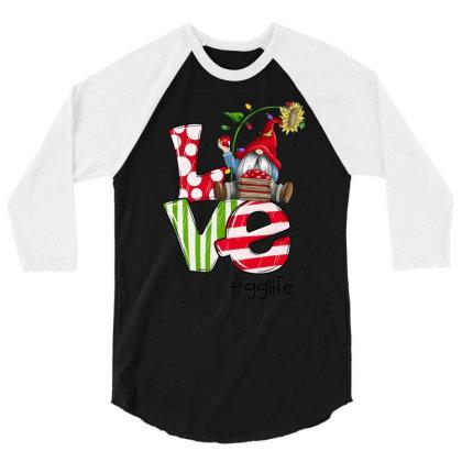 Love Gg Life Christmas 3/4 Sleeve Shirt Designed By Koopshawneen
