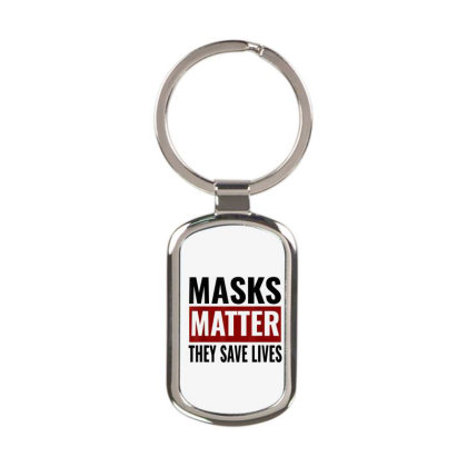 Masks Matter They Save Lives Rectangle Keychain Designed By Koopshawneen