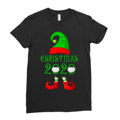 Matching Family Christmas 2020 Elf Ladies Fitted T-shirt Designed By Koopshawneen