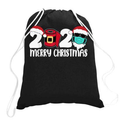 Merry Christmas 2020 Quarantine Drawstring Bags Designed By Koopshawneen