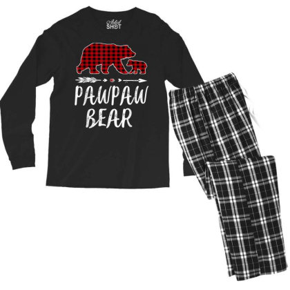 Pawpaw Bear Christmas Pajama Men's Long Sleeve Pajama Set Designed By Koopshawneen