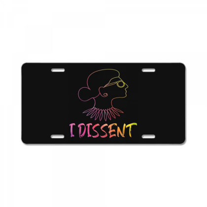 I Dissent License Plate Designed By Mrt90