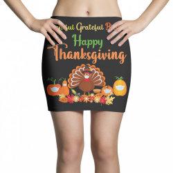 Happy thanksgiving turkey with a mask Mini Skirts | Artistshot