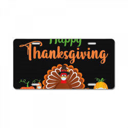 Happy thanksgiving turkey with a mask License Plate | Artistshot
