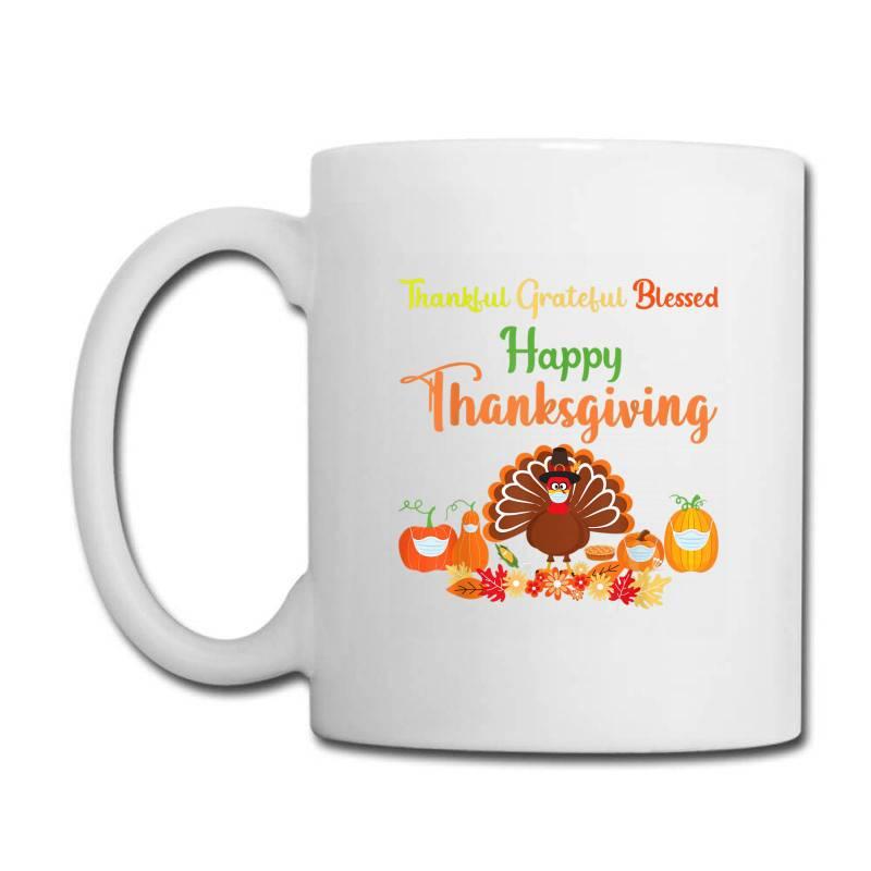 Happy Thanksgiving Turkey With A Mask Coffee Mug | Artistshot