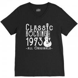 rocking since 1973 copy V-Neck Tee | Artistshot