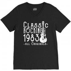 rocking since 1983 copy V-Neck Tee | Artistshot