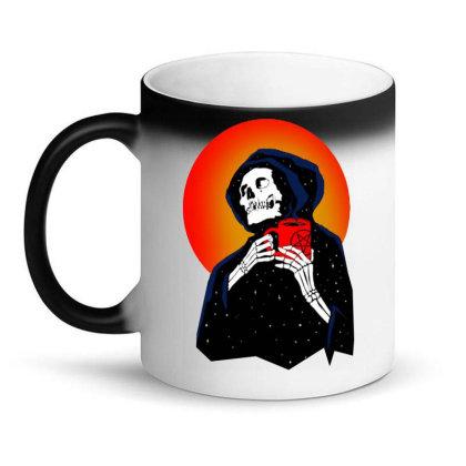 Ghost Coffee Time Magic Mug Designed By Batikmadrim Art