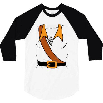 Gaston Costume 3/4 Sleeve Shirt Designed By Batikmadrim Art