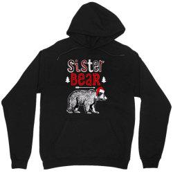 funny sister bear christmas santa Unisex Hoodie | Artistshot