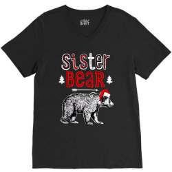 funny sister bear christmas santa V-Neck Tee | Artistshot