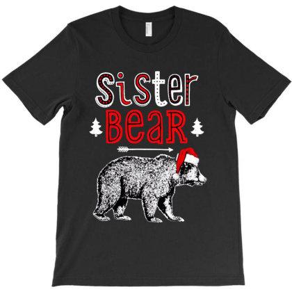 Funny Sister Bear Christmas Santa T-shirt Designed By Batikmadrim Art