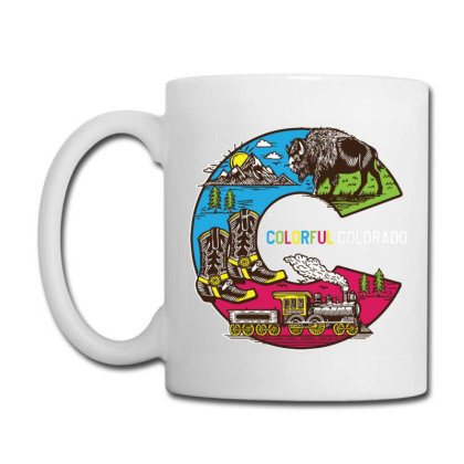 Colorful Colorado Landscape Imagery Emblem Coffee Mug Designed By Traart