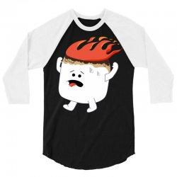 marshmallow 3/4 Sleeve Shirt   Artistshot