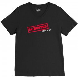 mcbusted tour 2014 hooded top busted V-Neck Tee   Artistshot